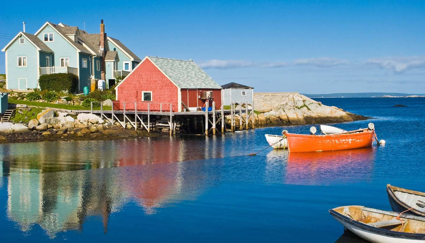 Fisherman's house and boats.